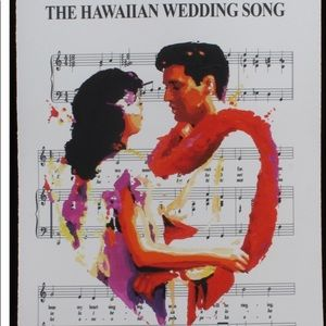 """Other - Elvis  """"Wedding Song"""" Limited Edition 14"""" x 20""""."""